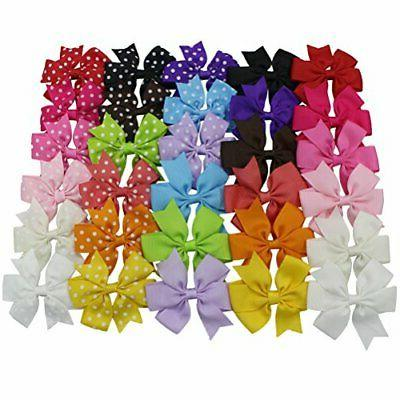 Habibee Toddlers Ribbon Bows for Girls Baby