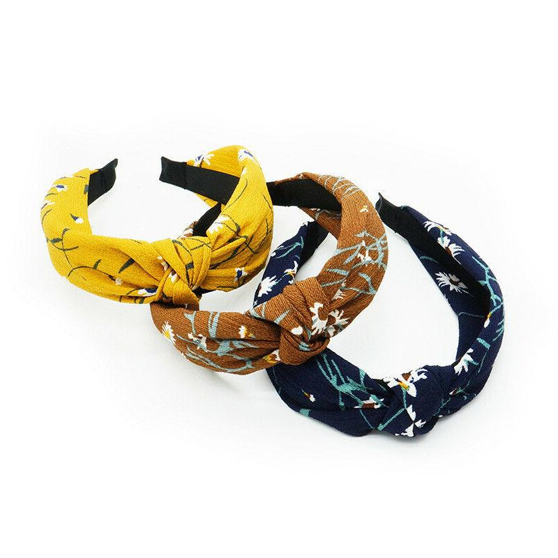 Knot Plastic Headbands for Women Floral Accessories