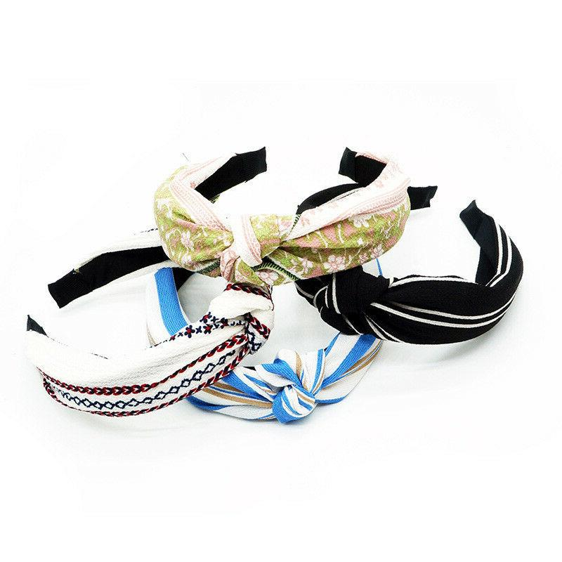 Knot Plastic Headbands for Girls Fabric Floral