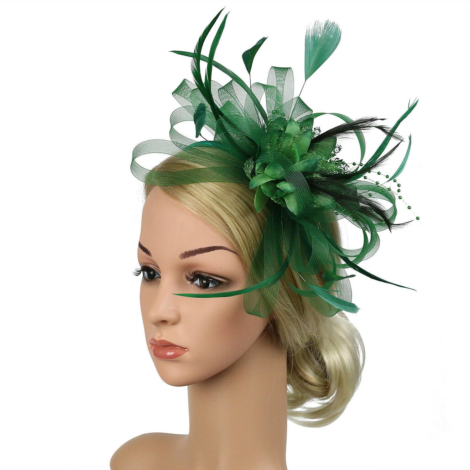 Fascinator Feather Hair Race Wedding Party
