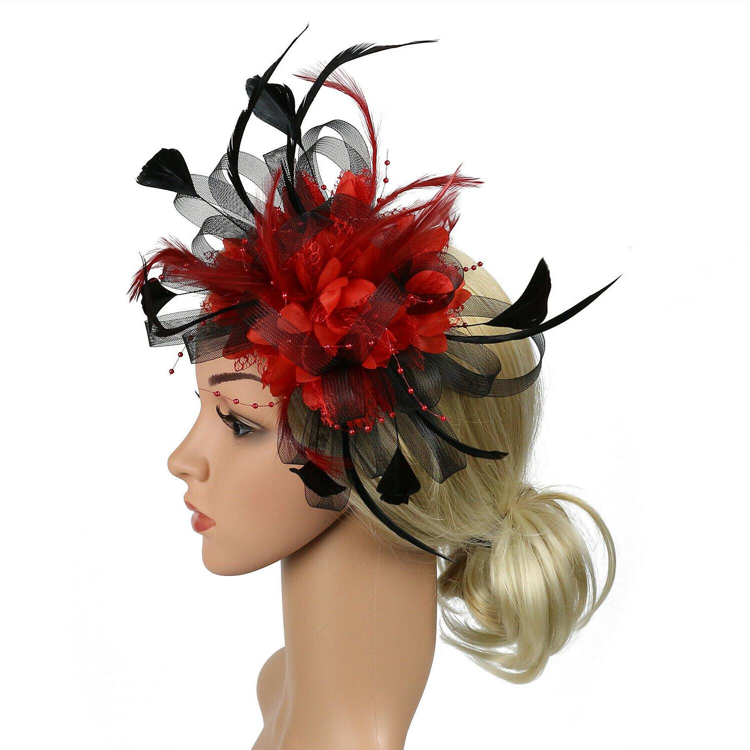 Fascinator Day Feather Ascot Race Accessories