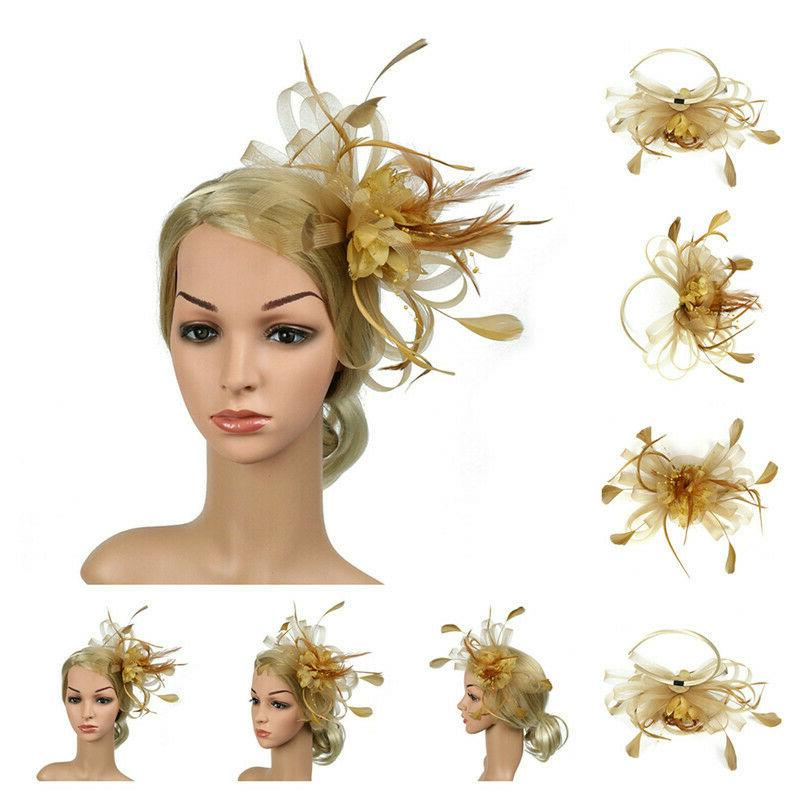 Fascinator Lady's Day Feather Clip Race