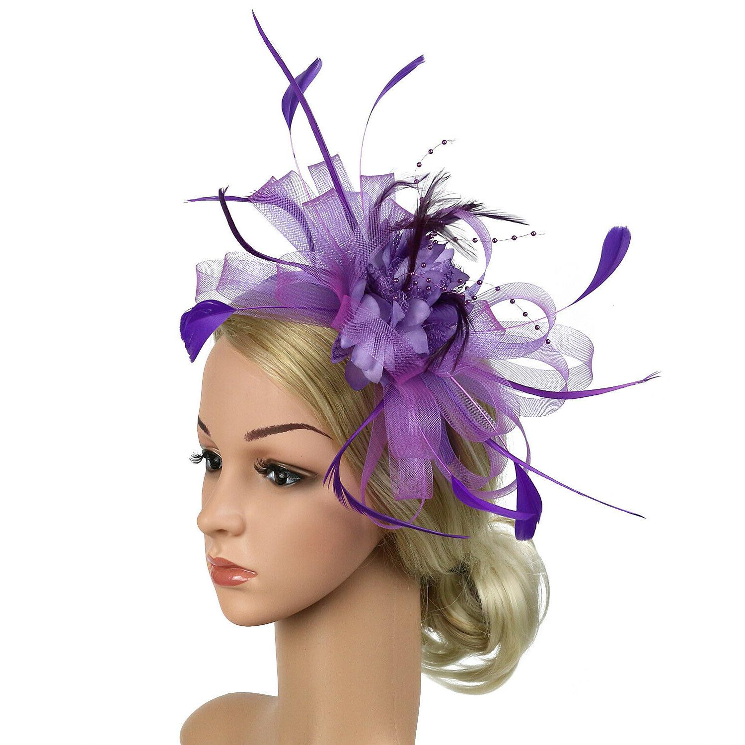 Fascinator Hat Day Feather Hair Race Wedding Party