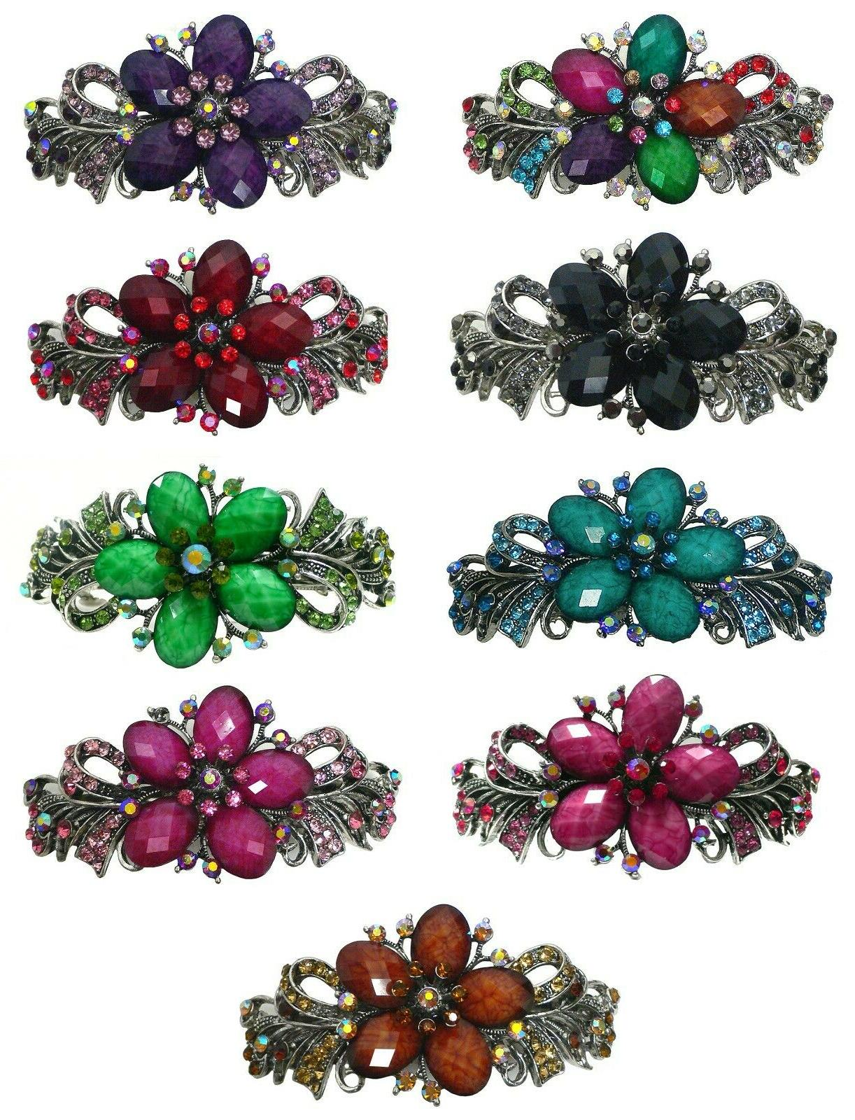 large barrette hair clip for women decked