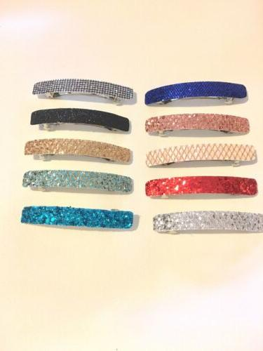 Lot Of Fabric Barrettes Hair Accessories Clips