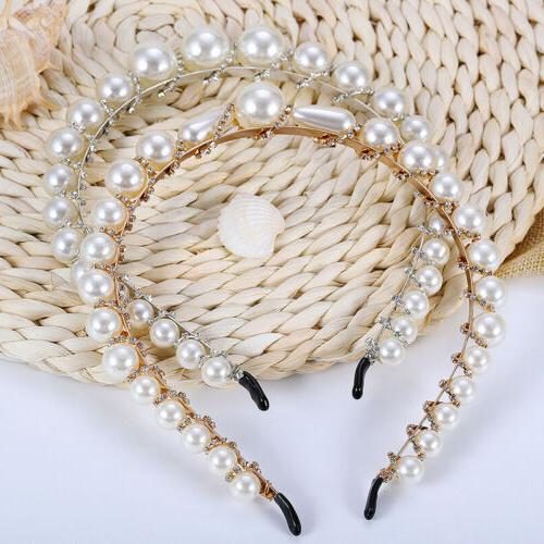 Luxury Big Pearl Headband Women Cat Hoops Girls
