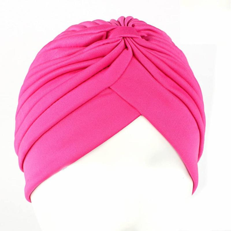 Ever Fairy Stretch Polyester Turban Cover Twisted PleatedHeadwr