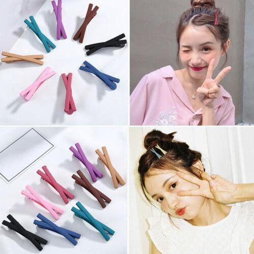 matte candy color bowknot hairpins hair clip