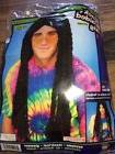 Mens Womens  Black Braided Hippie Braid Wig Costume Adult Wo