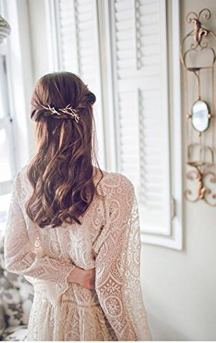 QTMY Metal Branches Hairpin Clips Hair Accessories