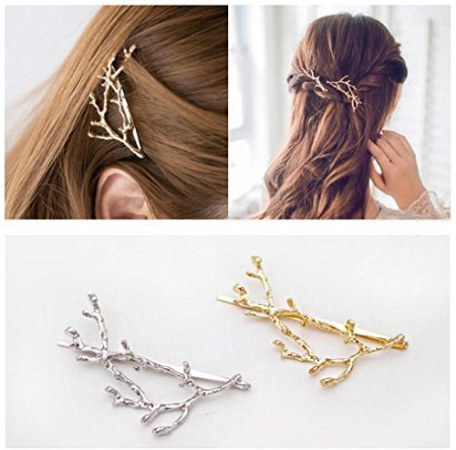 metal branches hairpin hair clips