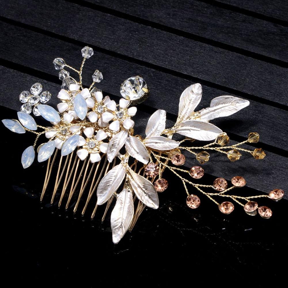 Mix Pearl Wedding <font><b>Hair</b></font> Comb Bridal <font><b>Clips</b></font> tiara ornaments
