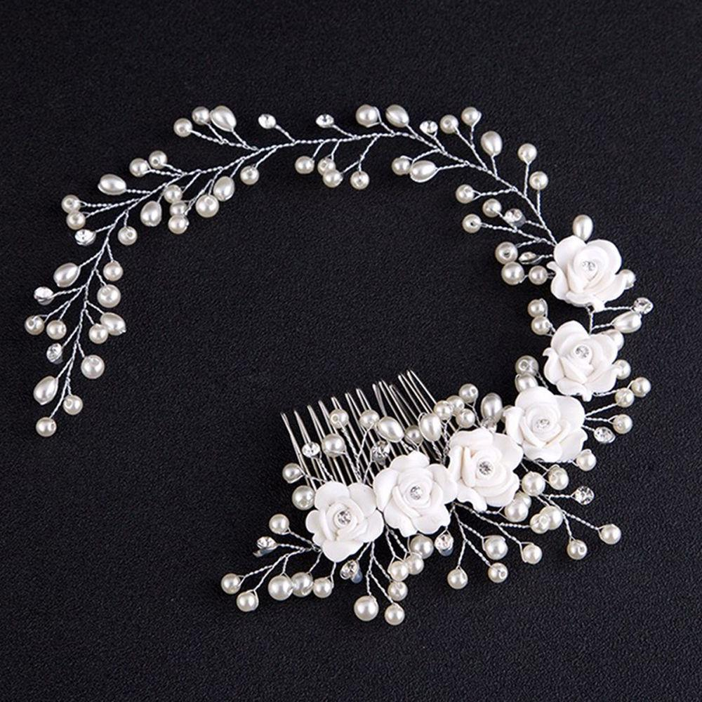 Mix Pearl <font><b>Hair</b></font> Jewelry Wedding <font><b>Hair</b></font> Comb tiara <font><b>hair</b></font> ornaments