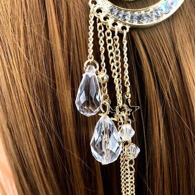 QTMY Moon with Crystal Beads Hair