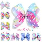 Multi-color Kids' Unicorn-pattern Big Bow Clip Gems Girls' H