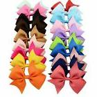 20pcs/lot Mutilcolor 4 inch Grosgrain Ribbon Hair Bows Girl