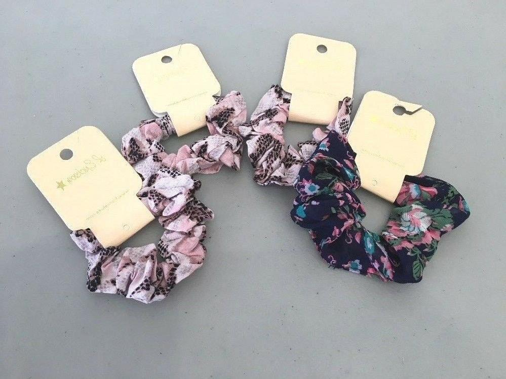 NEW Lot A 4 Nordstrom L. Erickson Scrunchies Hair Accessorie