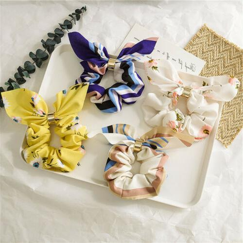 New Scrunchie Accessories Elastic Bow Scarf