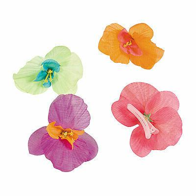 orchid hair clips 12 pieces