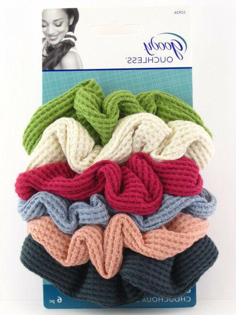 ouchless jumbo thermal hair scrunchies 6 pcs