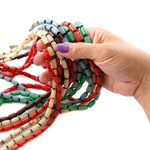 Over 350 for Jewelry Making Buri and Nut Bead Strands 2 Free Necklaces - Great Native Theme