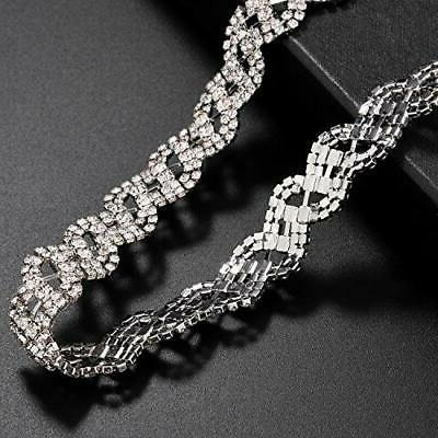 Lux Accessories Pave Crystal Hair