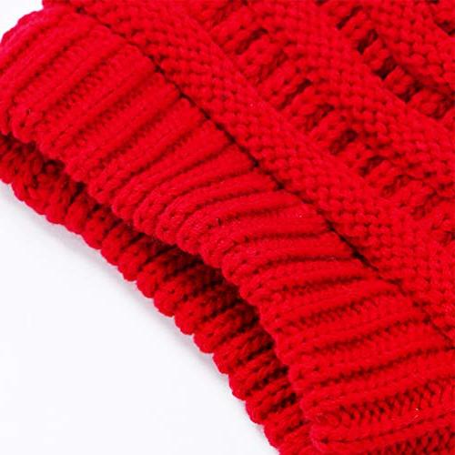 VeMee Hat Hat Beanies Messy Solid Knit Hat Cap