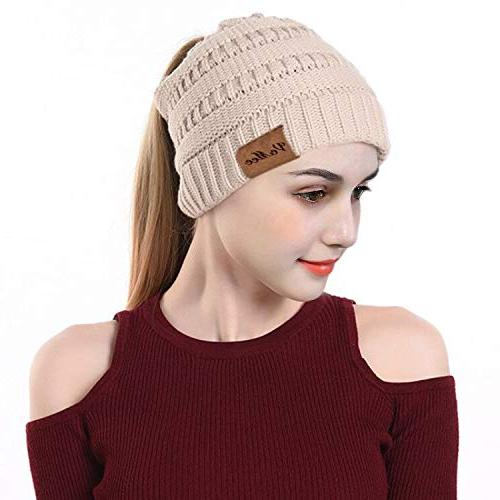 ponytail hat winter warm hats for women
