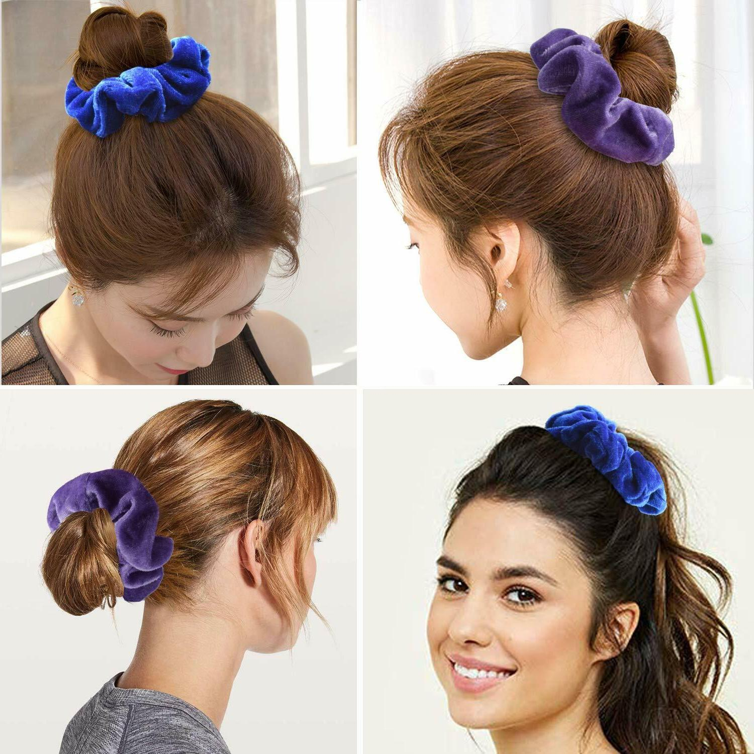 Premium Hair Scrunchy Ties Ropes Pcs