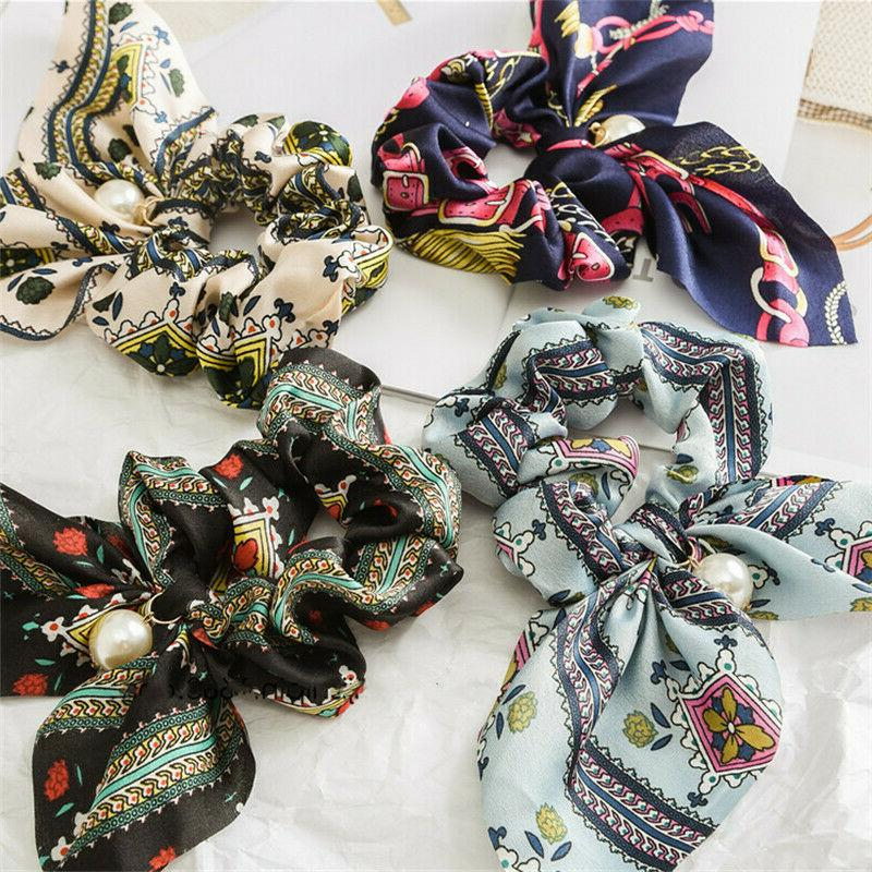 Solid Scrunchie Hair Band Elastic Ties Rope Scarf Accessories