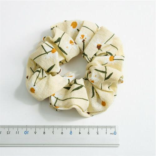Spring Flower Hair Scrunchie Ponytail Hair Rope Elastic C8