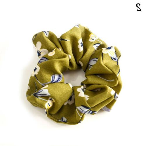 Spring Flower Hair Scrunchie Ponytail Holder Rope C8