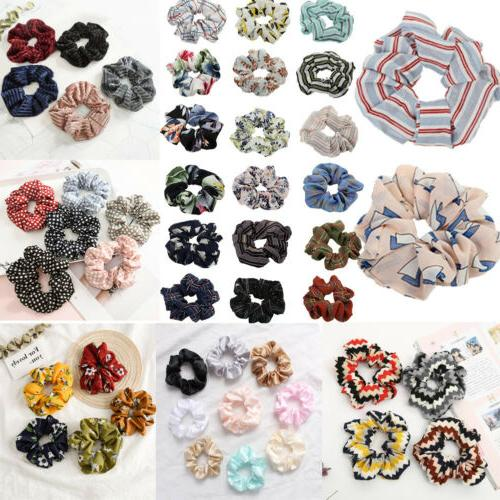 spring flower hair scrunchie ponytail holder hair
