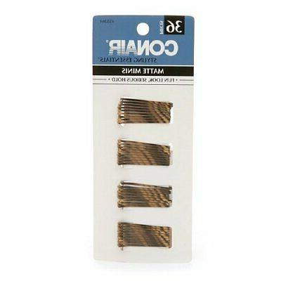 styling essentials mini pins brown 36ct pack