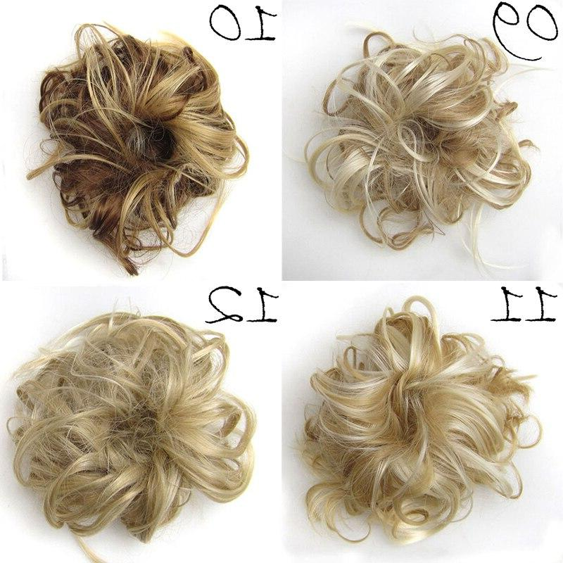 Synthetic <font><b>Hair</b></font> Ring Wrap Donut <font><b>Hair</b></font> <font><b>Accessory</b></font>