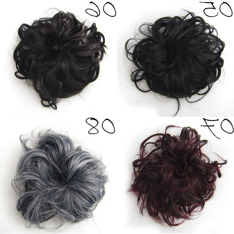 Synthetic <font><b>Hair</b></font> Ring Blonde Wrap For <font><b>Hair</b></font> Donut <font><b>Hair</b></font> pieces Rubber Band <font><b>Hair</b></font> Tail Ponytail