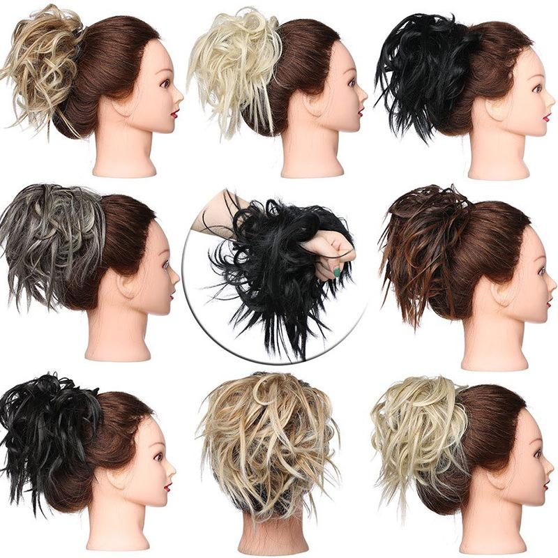 Synthetic Wrap Donut Curly pieces <font><b>Hair</b></font> Tail <font><b>Accessory</b></font>