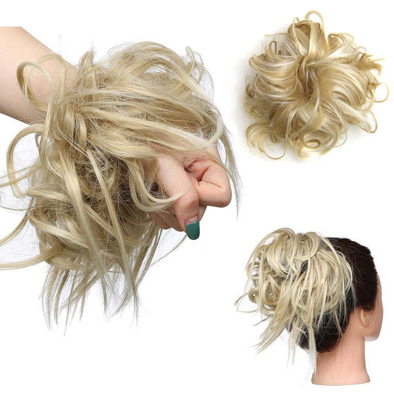 Synthetic Wrap Donut Curly Wig <font><b>Hair</b></font> pieces Wrap Rubber <font><b>Hair</b></font>