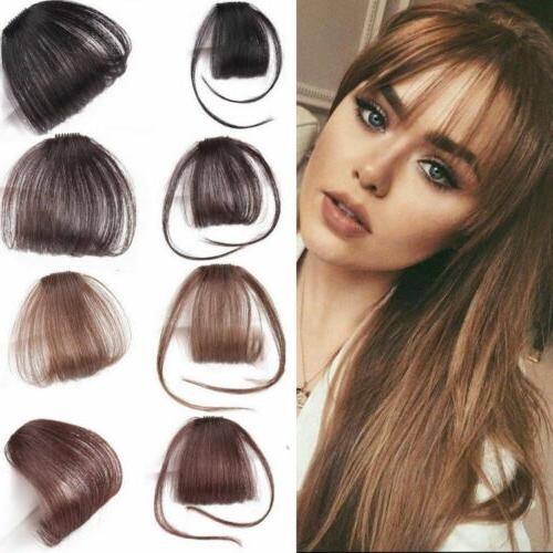 Thin Neat Air Bangs Real on Bangs Clip Front Fringe Hairpiece