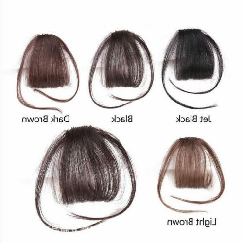 Thin Real Human Hair Clip on Clip Front