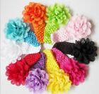 10pcs Kids Girl Baby Toddler Lace Flower Headband Hair Band