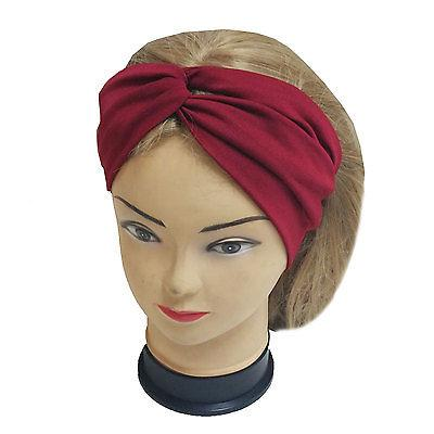 Twisted Stretchable Turban Yoga Fashion Solid Color