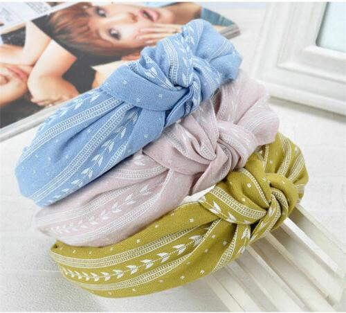 US Bowknot Wide Headband Fashion Hair
