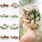 US Women Beach Wedding Flower Hair Garland Crown Headband Fl