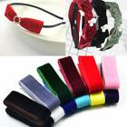 velvet ribbons hair bow decor 12 pcs