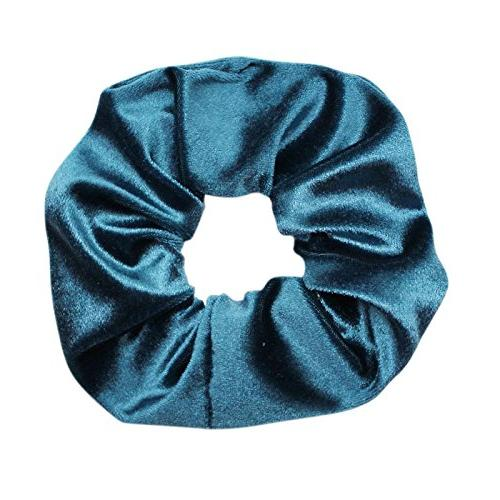 Velvet For Hair - 10-Pack Velvet Scrunchie Elastics for Women Bands Girls Long Curly Straight Hair