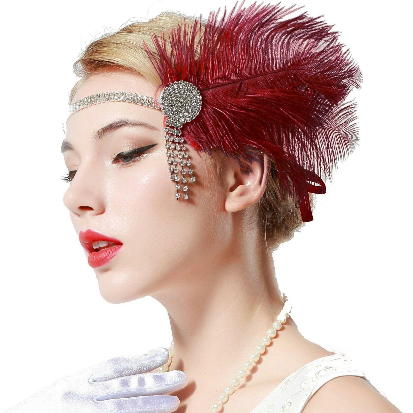 BABEYOND 1920s Headband Gatsby Headpiece