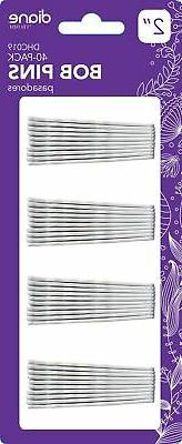 Diane by Fromm White Hair Bobby Pins , 40-Pieces , Smooth Fi