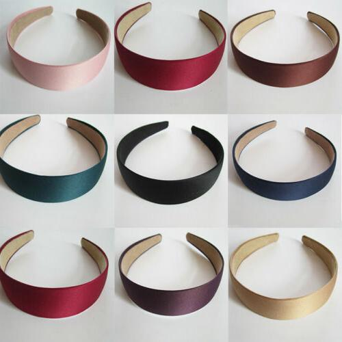 wide hairband hair hoop solid color headband