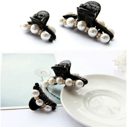 Women Pearl Large Clear Accessories